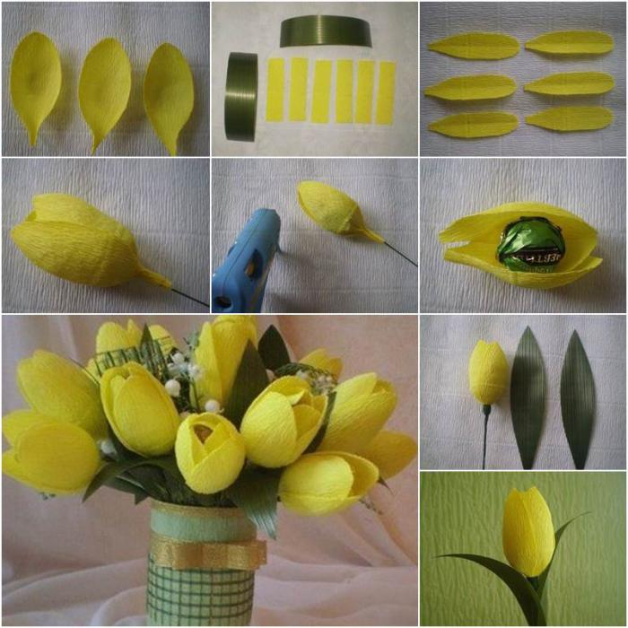 Тюльпаны своими руками из бумаги фото