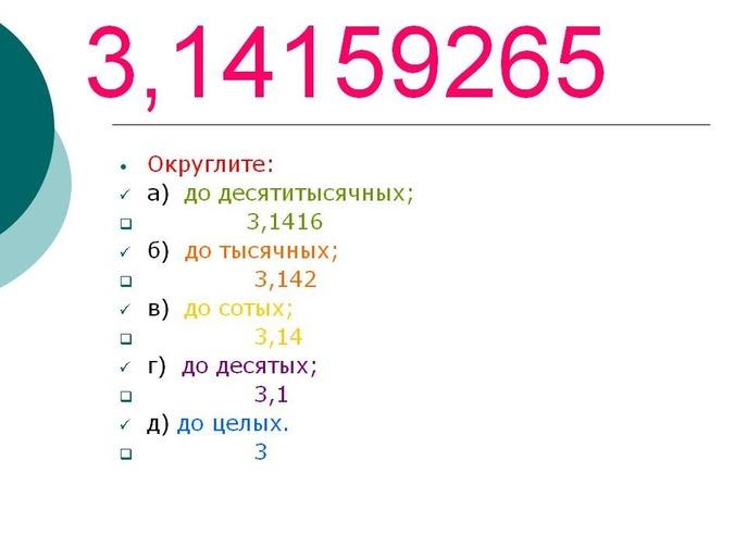Как округлить число до десятых шесть целых двести тридцать пять