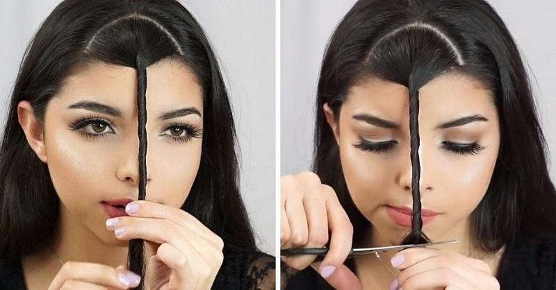 Как сделать чёлку на бок для девочек