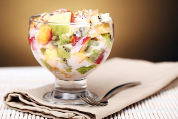 Салат фруктовый рецепт йогуртом