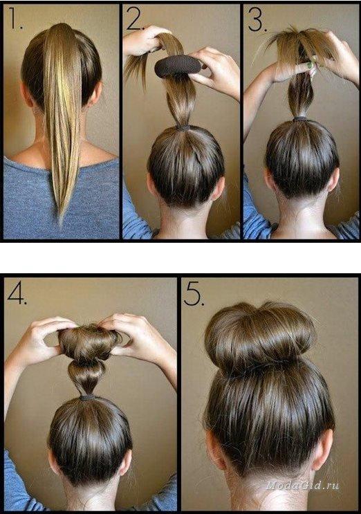 Как сделать бублик для волос своими руками из носка
