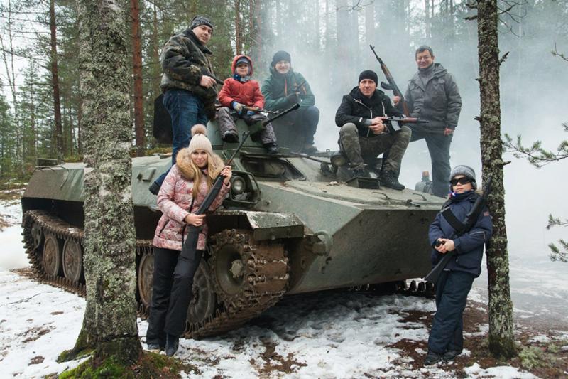 Подарок езда на танке 34