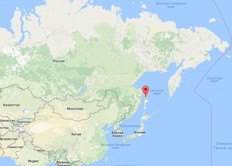 Где находится остров сахалин карте