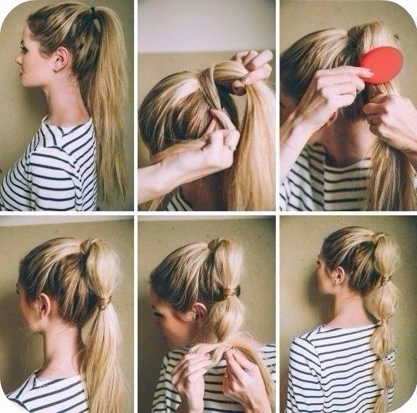Легкие прически для средних волос своими руками видео