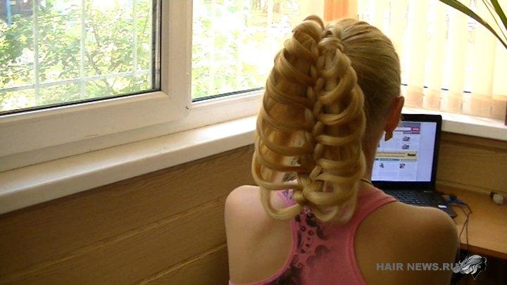 Плетение кос с карандашом