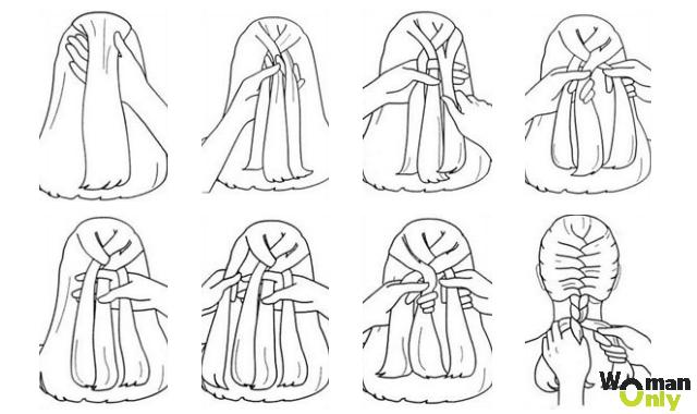 Как сделать косичку-колосок
