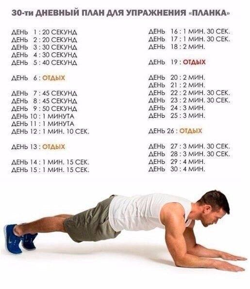 планка схема на месяц