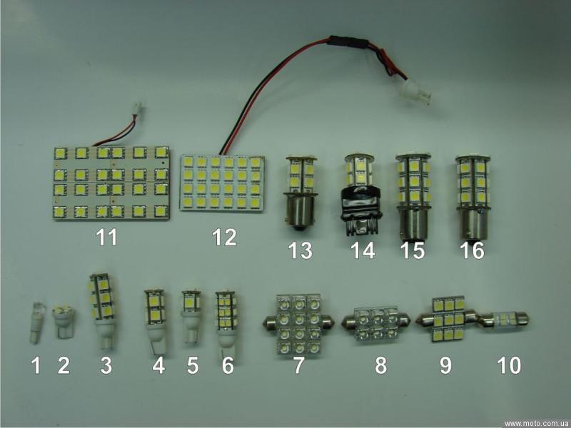 Светодиодные лампы в авто своими рукам