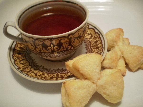 Утро чай печенье