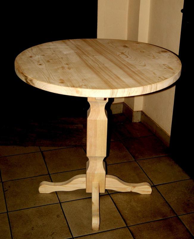 Журнальный столик своими руками из дерева на одной ножке 13