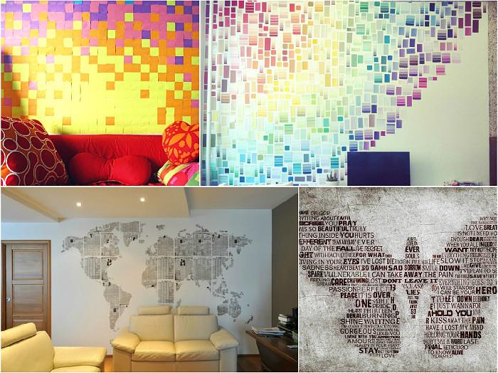Декор комнаты из подручных материалов фото