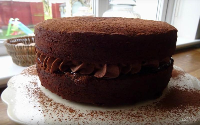 Бисквит шоколадный торт рецепт с пошагово