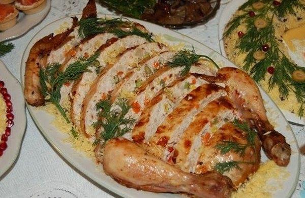 Грибы фаршированные курицей в духовке рецепты с фото