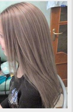 Цвет волос холодный русый