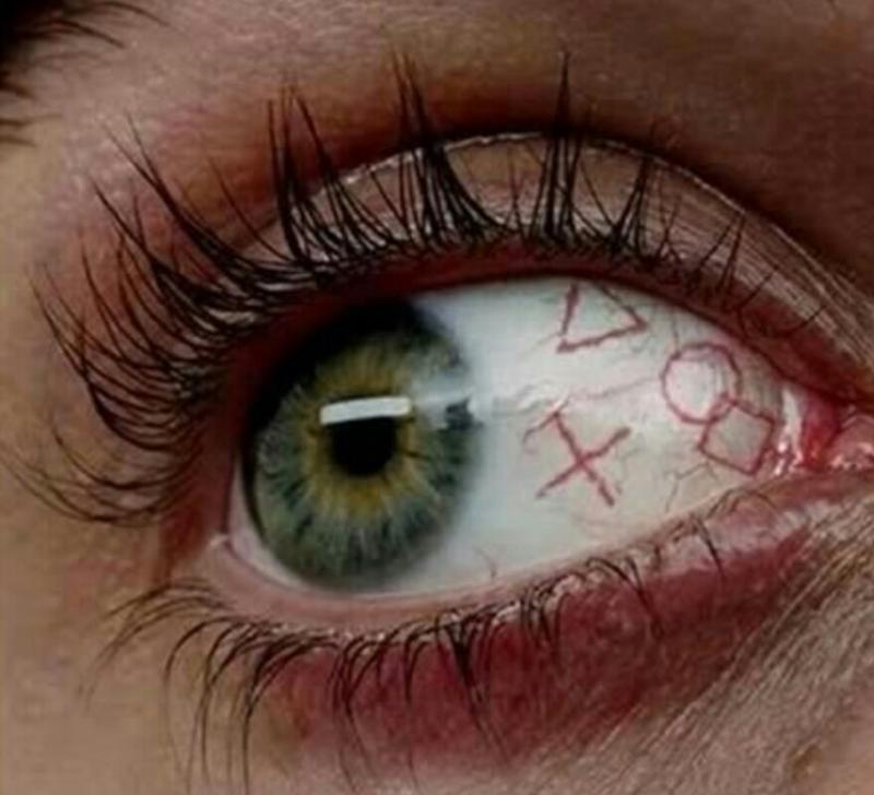 Как сделать чёрный белок глаза
