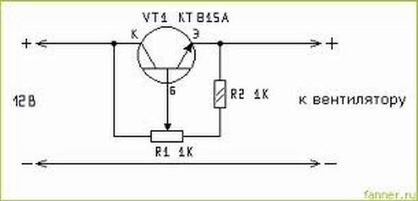 Схема регулировка оборотов электродвигателей постоянного тока