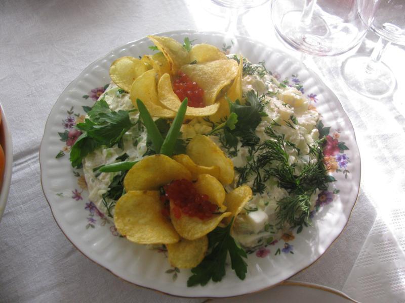 Новенькие салаты на праздничный стол