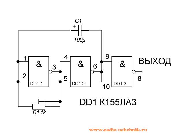 Схема генератора на к155ла3