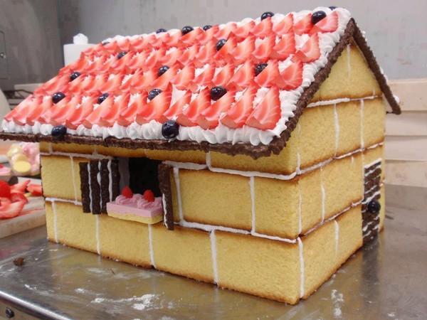 Фото торта в виде домика