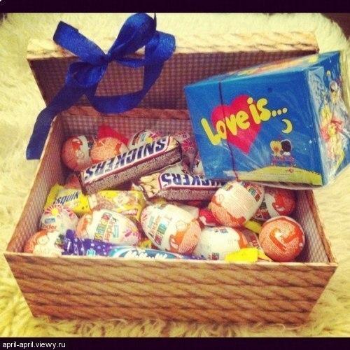 Подарок  парню со сладостей