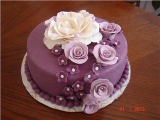 Дизайн тортов мастикой