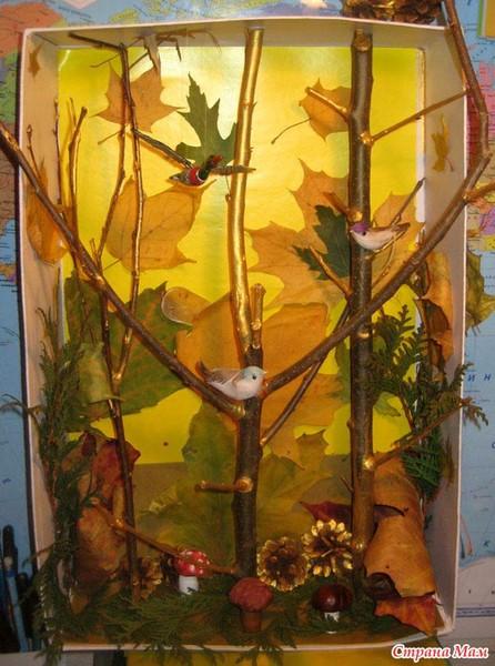Поделки из природных материалов золотой осень