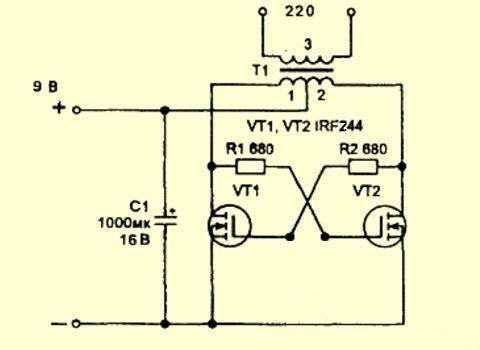 Преобразователь на транзисторах 12