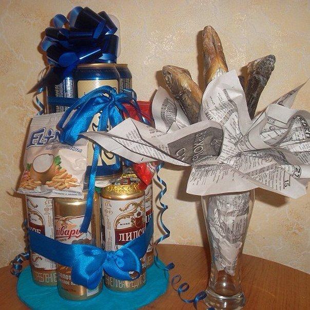 Подарок из банок пива своими руками фото