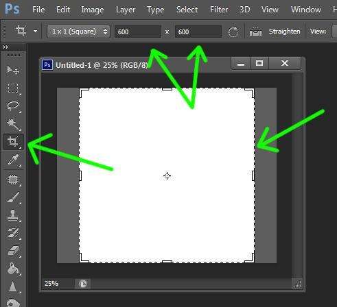 Как сделать изображение 600х600 пикселов