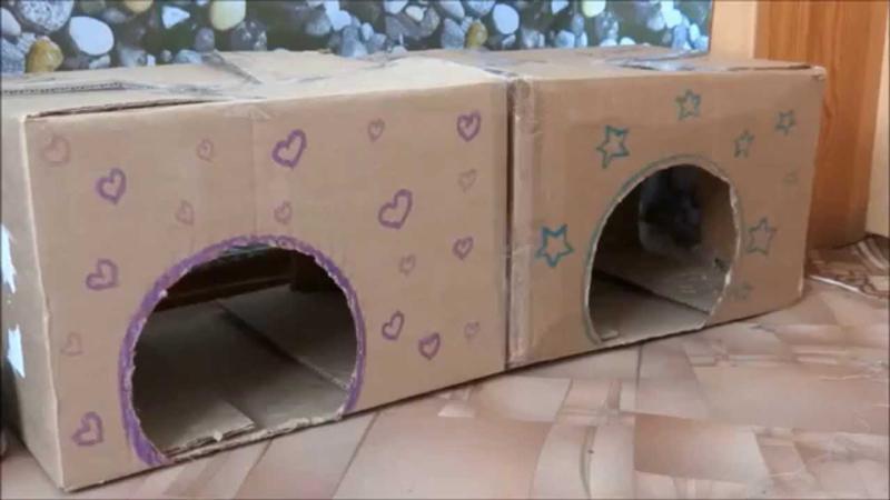 Как сделать домик для игрушек своими руками из коробки 83
