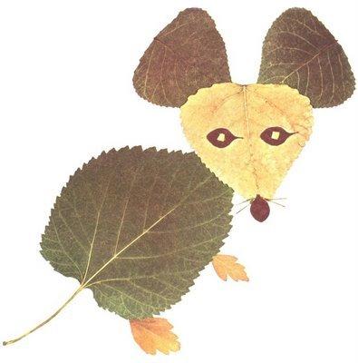 Фигуры из листьев