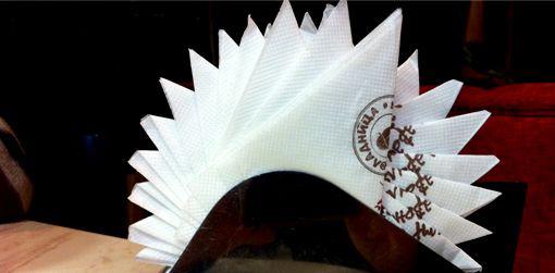 Как сложить салфетки бумажные в салфетницу красиво пошагово