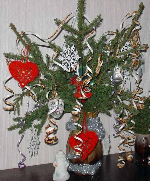 Вместо елки новогодний букет своими руками фото