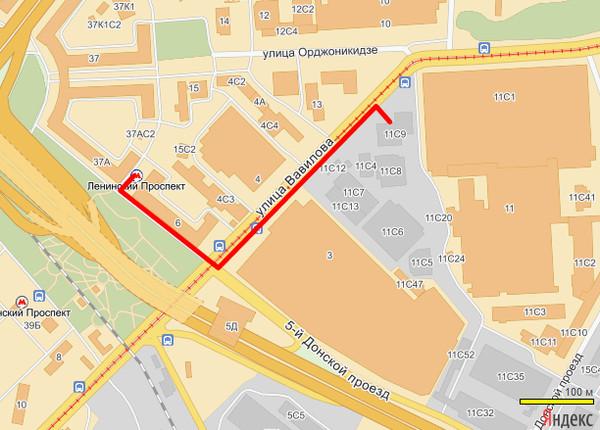 Улица обручева на карте москва