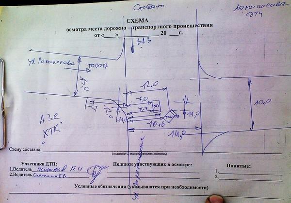 План схема к осмотру места происшествия образец