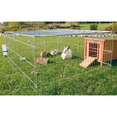 Как сделать загон для кролика