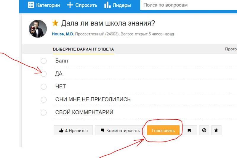 Как голосовать за на mail ru
