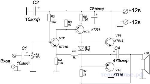 Усилитель низкой частоты своими руками на транзисторах