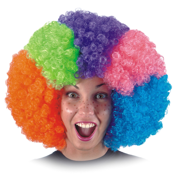 Парик клоуна своими руками фото