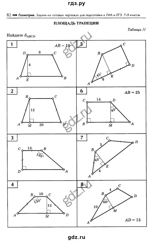 по чертежам класс готовым гдз 7 задачи геометрия по