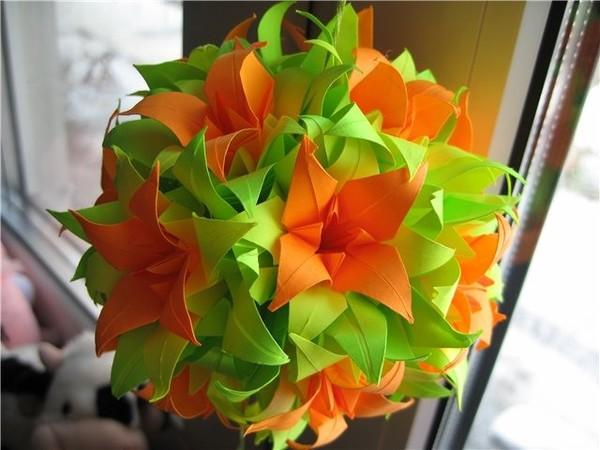Цветы из бумаги для школы