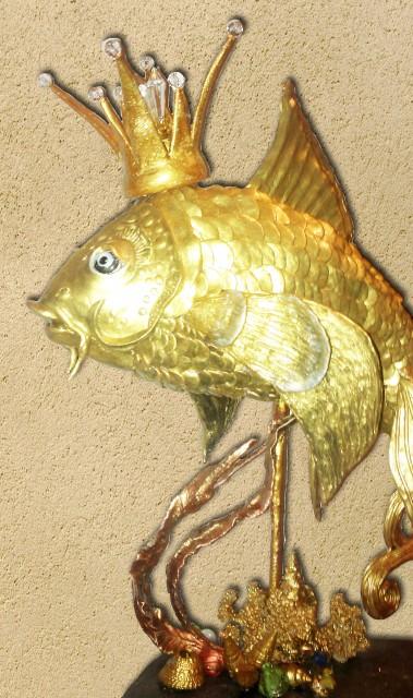 Как сделать корону сделать золотой рыбки своими руками