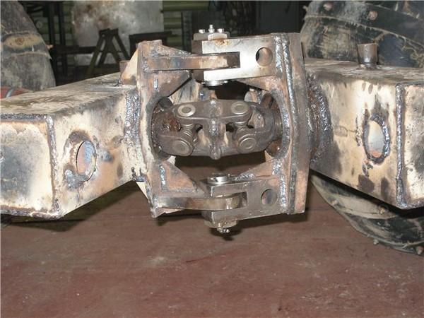 Ломаная рама самодельного трактора - Самодельный минитрактор с ломающейся рамой