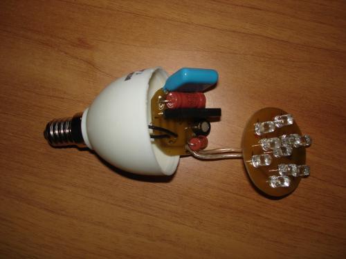 Как сделать светодиодные лампы самому