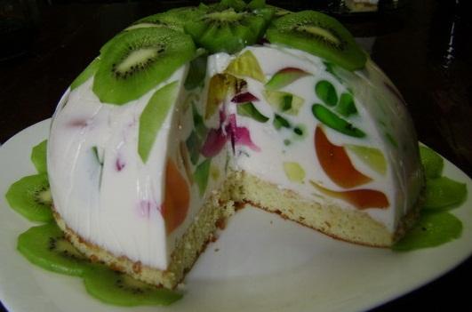торт битое стекло фото рецепт с фруктами