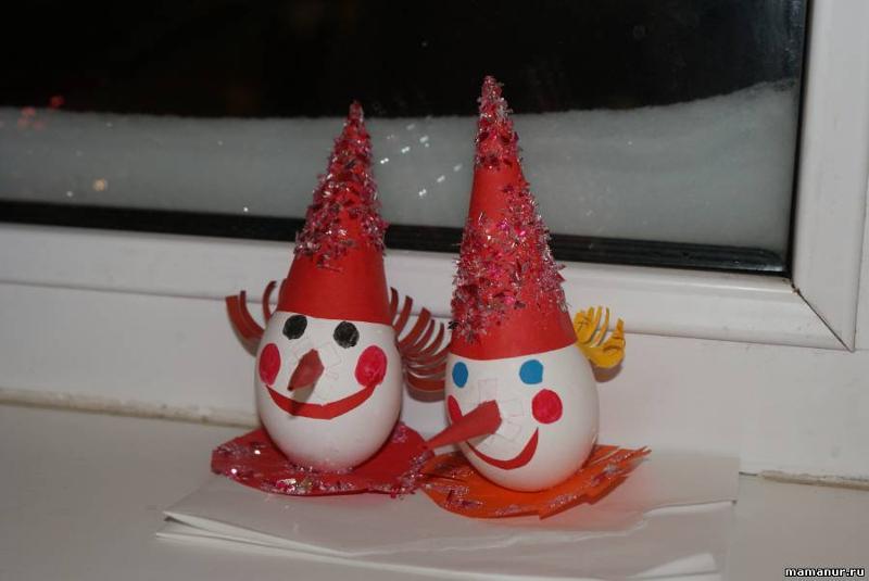 Игрушка новогодняя из яйца