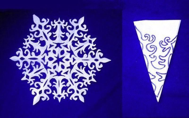 Снежинки к новому году  из бумаги
