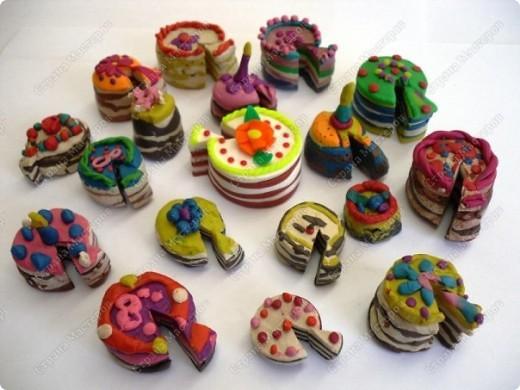 Своими руками торт из пластилина