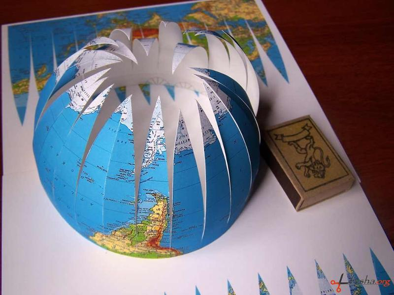 Как сделать модель земного шара своими руками пошагово