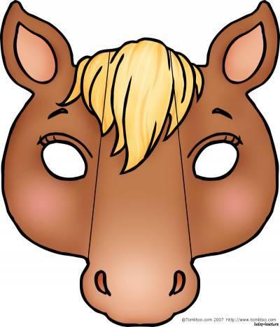 Как сделать из бумаги маску лошади